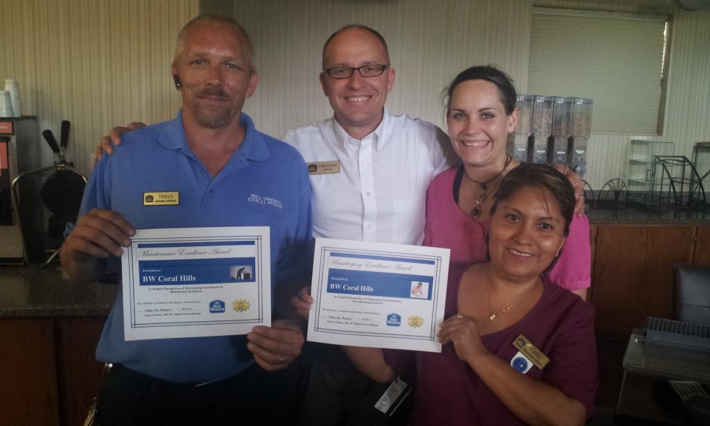 Travis - Maintenance, John - Management, Elizabeth and Isabelle - Housekeeping